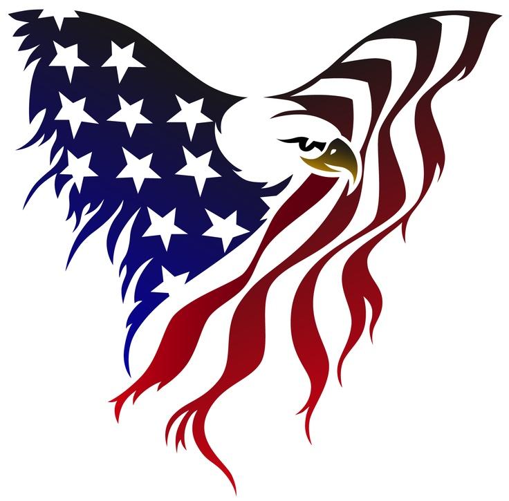 736x725 Drawn White Tailed Eagle Flag Clip Art