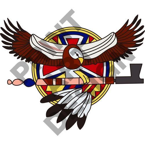 500x500 Native American Eagle Clipart