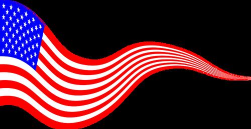 500x258 American Flag Banner Public Domain Vectors
