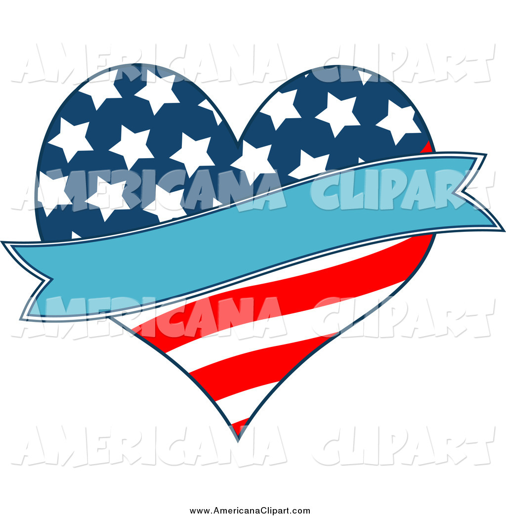 1024x1044 Americana Vector Clip Art Of A Patriotic American Heart And A Blue