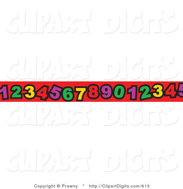 600x620 Vector Clip Art Of A Border Of Colorful Numbers On Red By Prawny