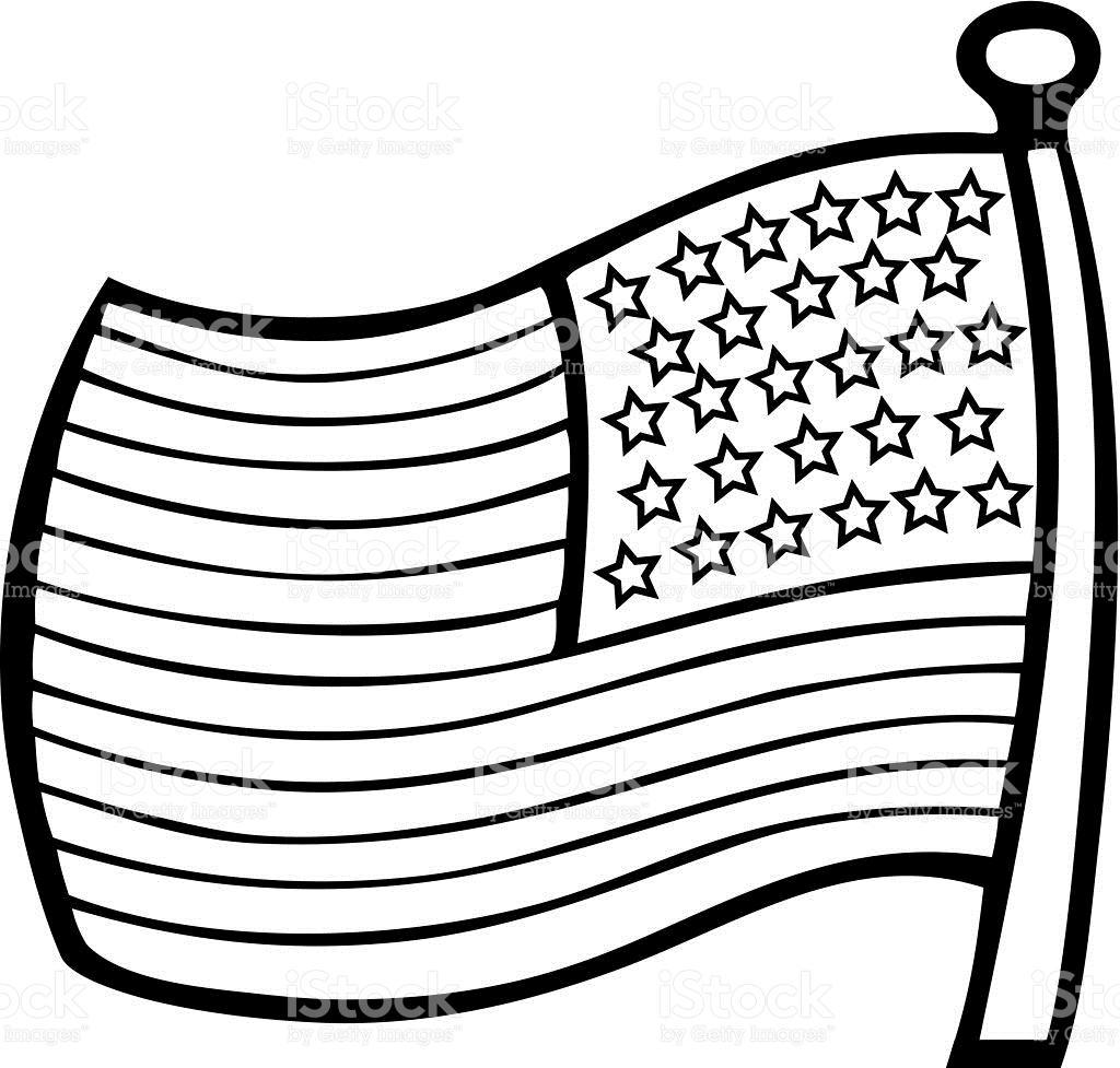 1024x977 American Flag Outline Clip Art
