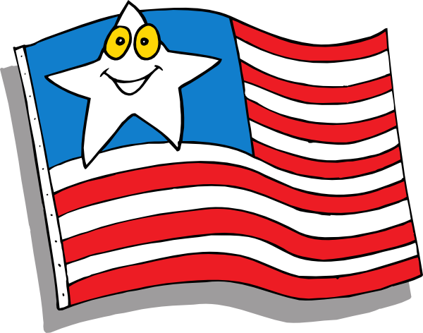 600x472 Cartoon Flag Clip Art