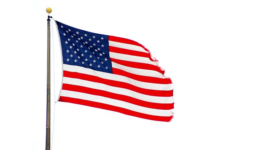 852x480 Closeup Of Jumbo American Flag Against A Blue Sky