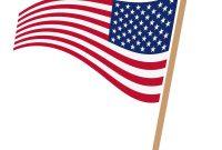 200x135 Hd American Flag Vector Clip Art Drawing