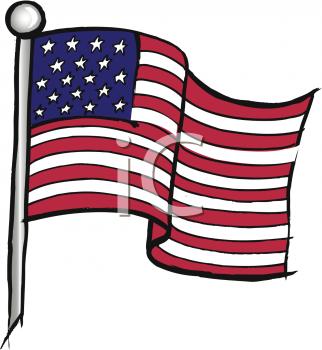 322x350 Waving American Flag Clip Art