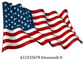 267x194 Waving American Flag Stock Illustrations. 6,633 Waving American