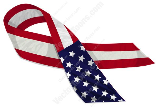 600x417 American Flag Ribbon Clipart Transparent Background