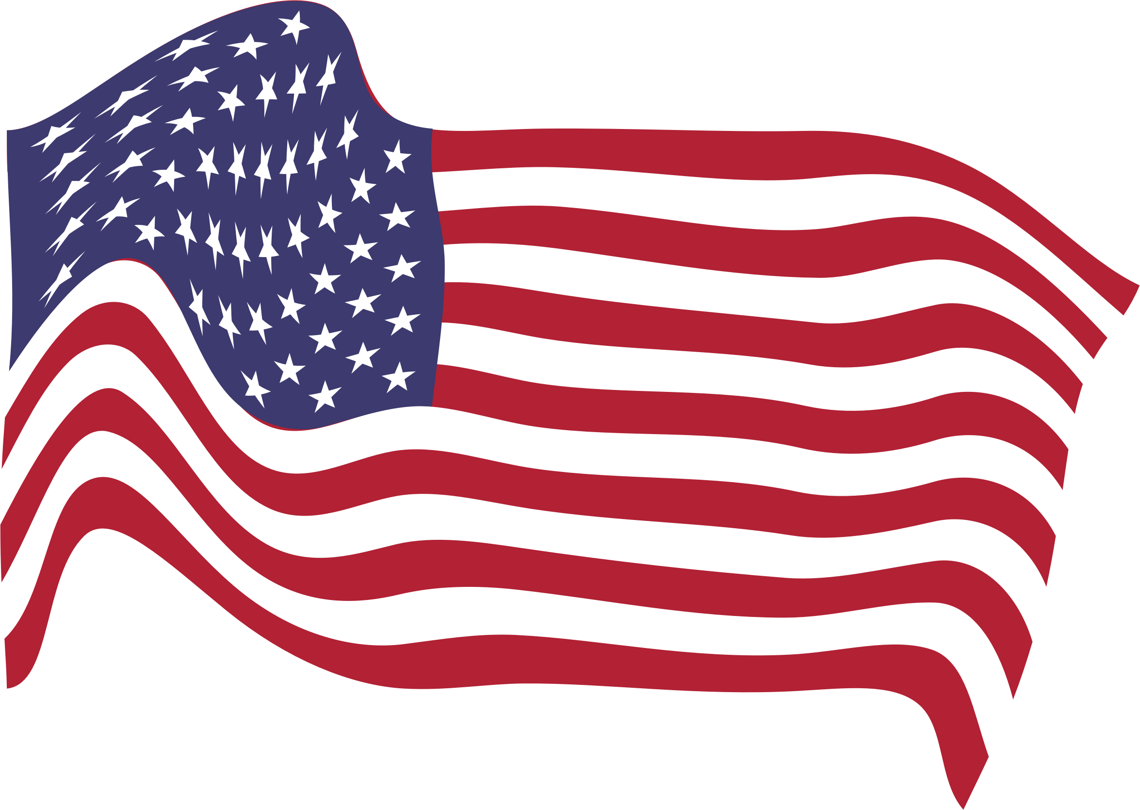2350x1670 American Flag Clipart Pink