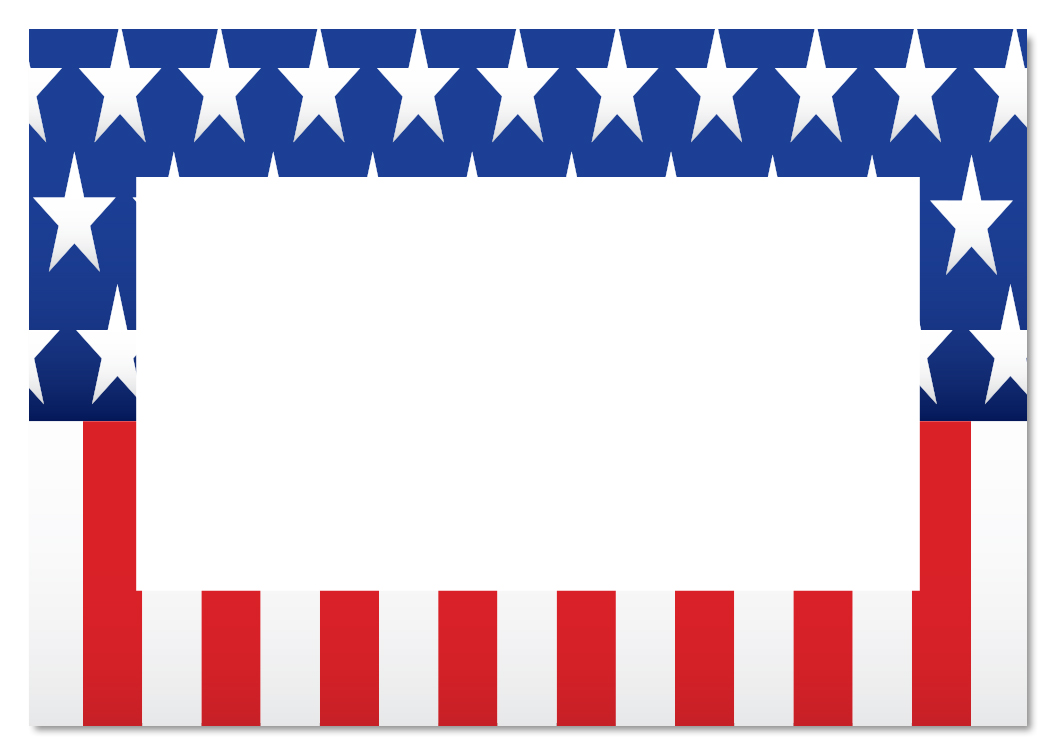 1050x750 American Clipart Border