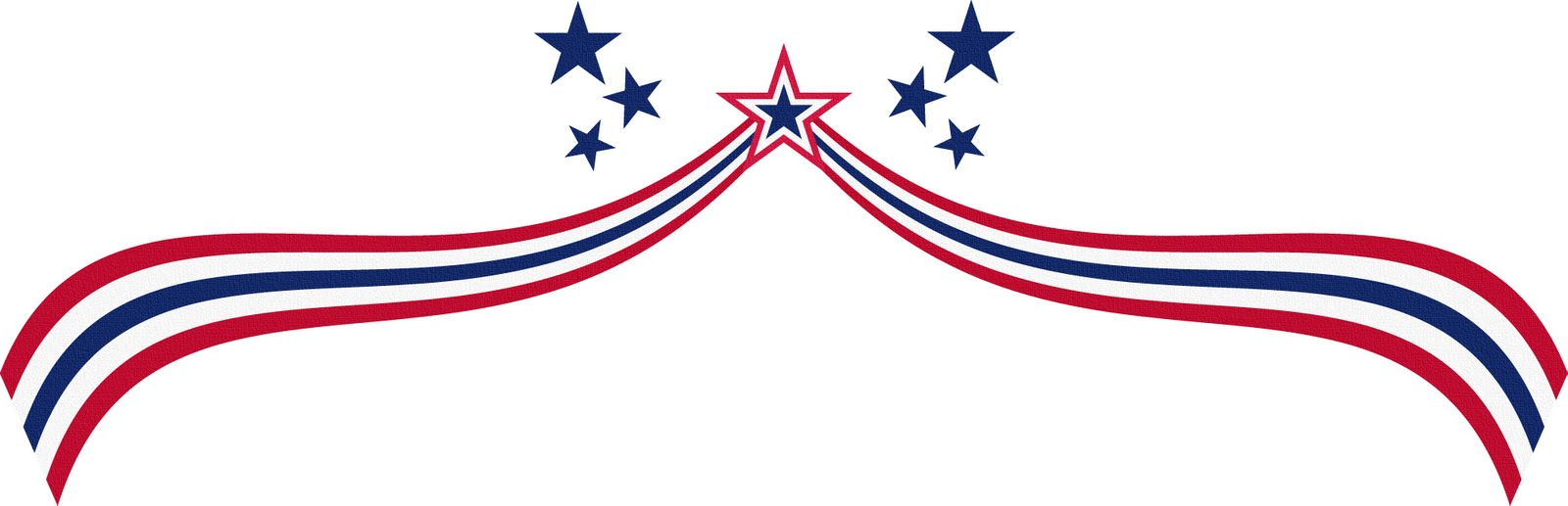 1600x517 American Flag Clipart Independence Day July 4th