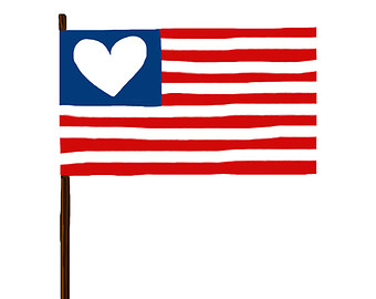 340x270 American Flag Clipart Black And White Free 2