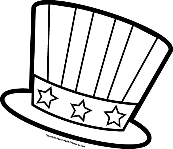 610x523 Free Black And White 4th Of July Clipart