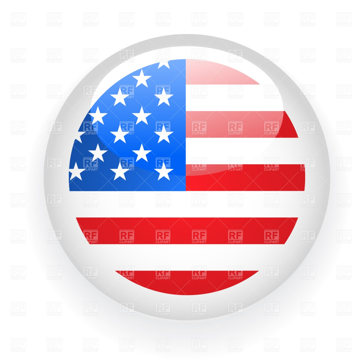 1200x1200 American Flag Badge Royalty Free Vector Clip Art Image