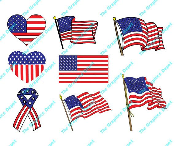 American Flag Clipart Images