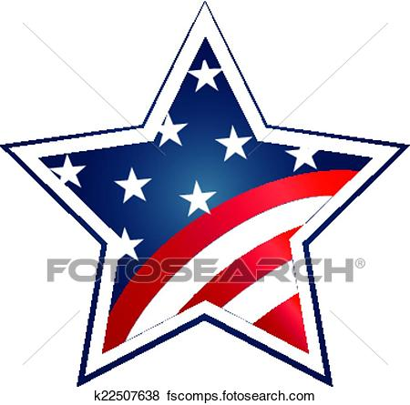 450x445 Clip Art Of Election 2016 With Usa Flag Illustration. Vector Icon