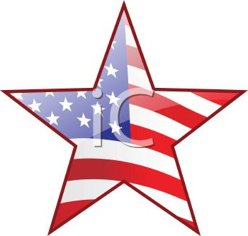 350x333 Picture Of A Star With The Colors Of The American Flag In A Vector