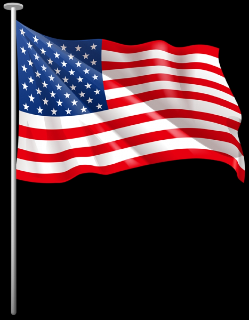 797x1024 Usa Flag Clipart 0 Pdclipartpng United States Flag Clip Art