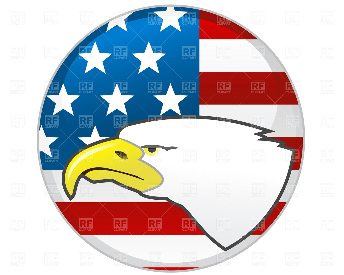 1200x960 Badge With Eagle And American Flag Royalty Free Vector Clip Art
