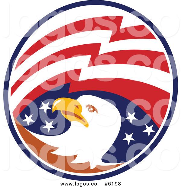 600x620 Royalty Free Clip Art Vector Logo Of A Bald Eagle Head