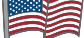 272x125 American Flag Clip Art Waving Free Clipart Images Clipartix 4