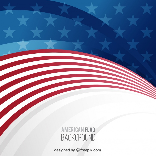 626x626 Background With Wavy American Flag Vector Free Download