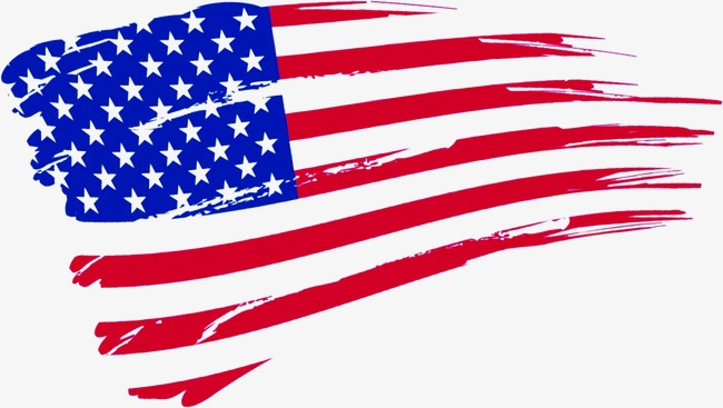 650x367 American Flag, Small Fresh, Banner, Hand Painted Png Image