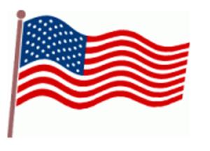 300x216 American Flag Clip Art