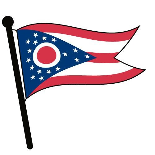 500x500 Ohio Waving Flag Clip Art