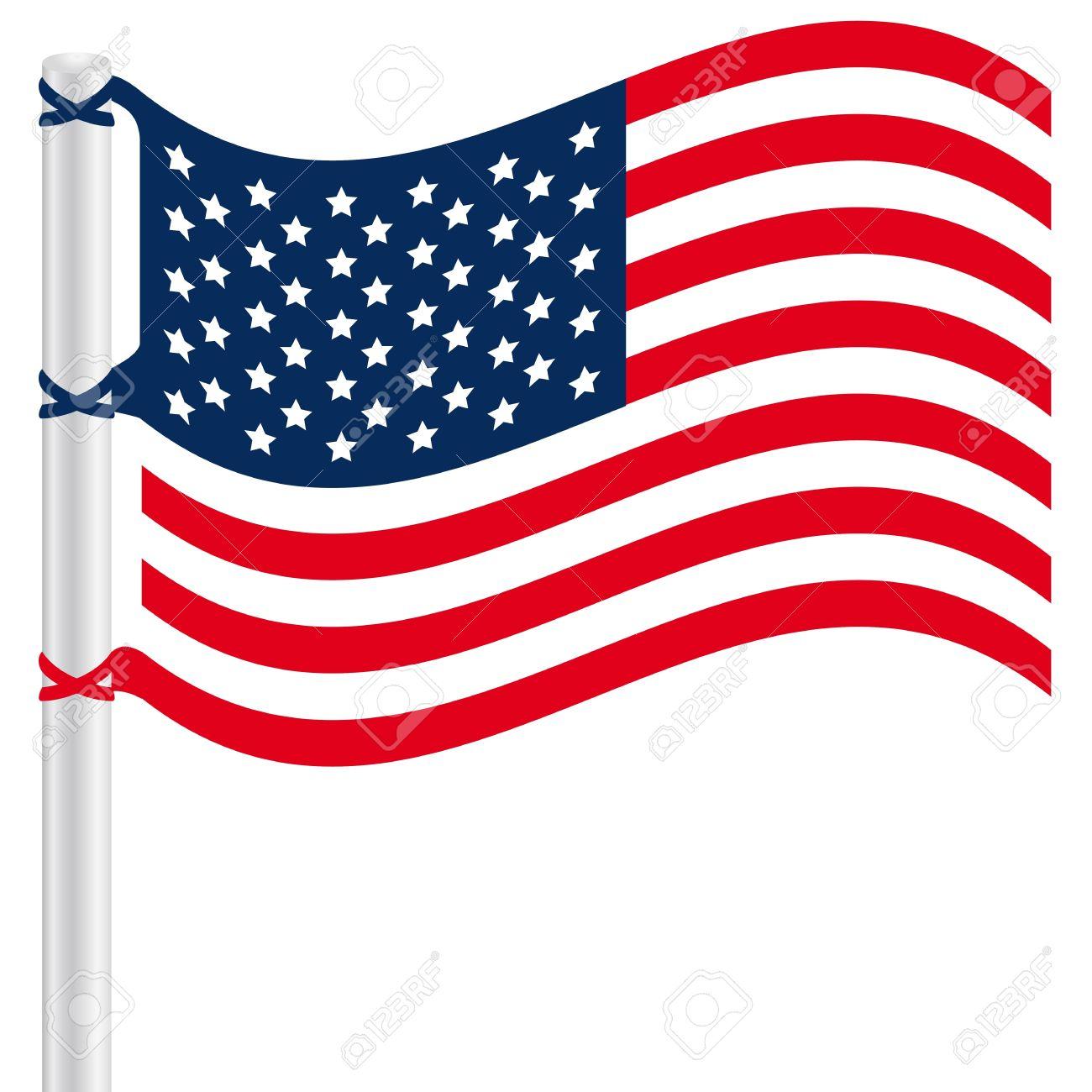 1300x1300 Vector Clipart American Flag