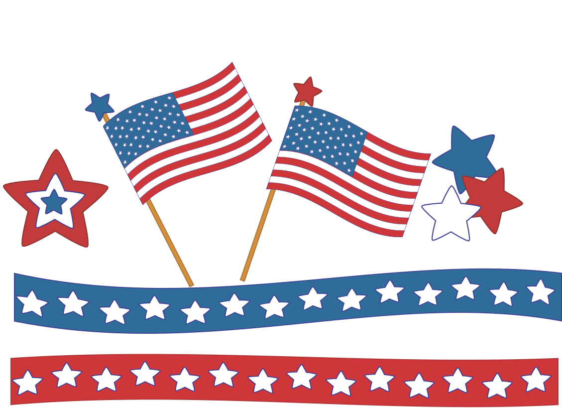 1129x819 American Flag Clipart Independence Day July 4th