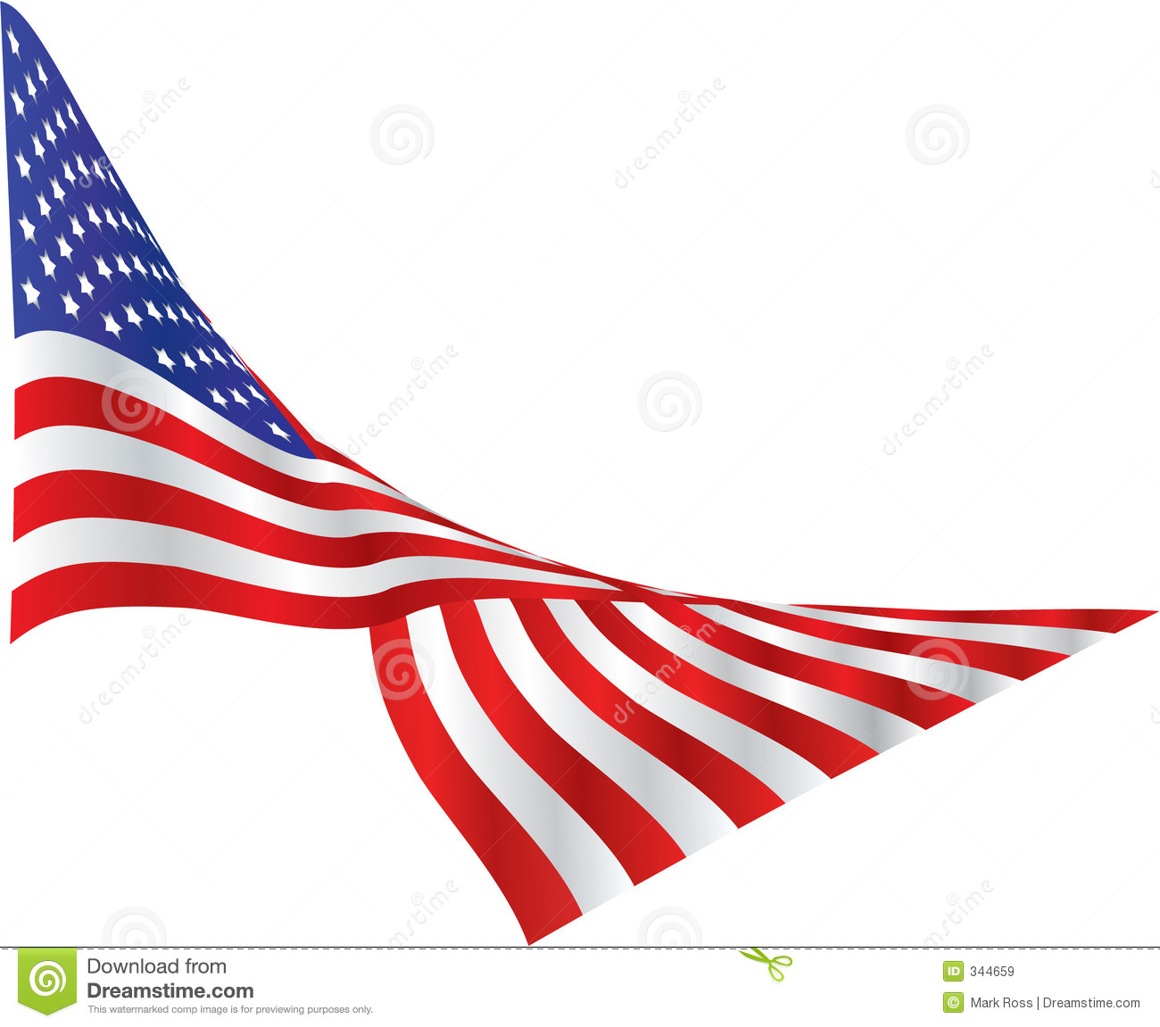 1300x1151 American Flag Ribbon Clipart