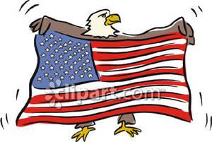 300x201 Bald Eagle Holding An American Flag