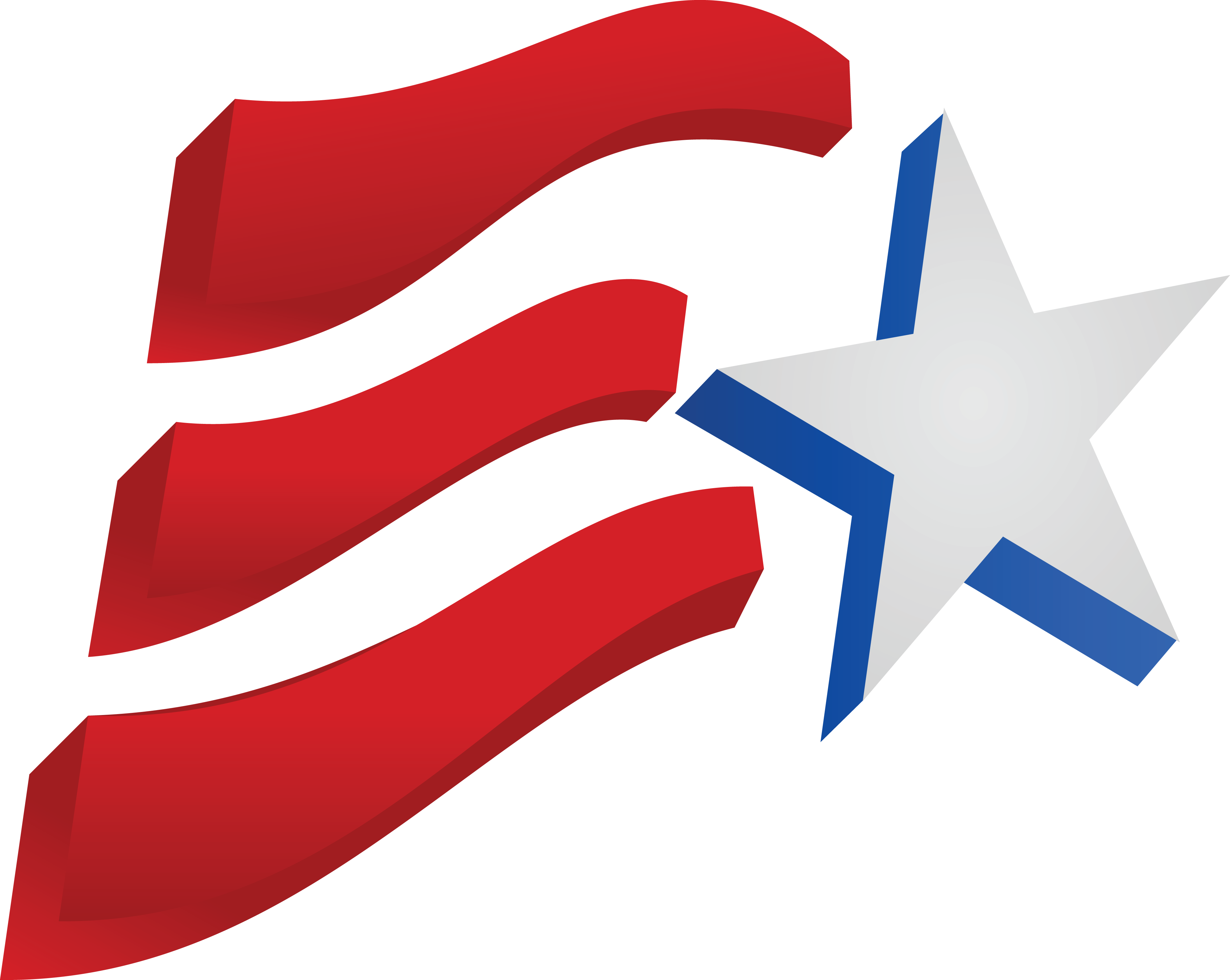4000x3188 Free Clipart Of A Fourth Of July Star And American Flag