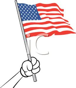 259x300 Small American Flag Clipart