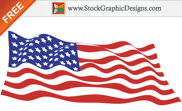 600x365 Usa Flags Free Vector Graphics 123freevectors