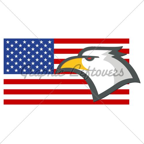 500x500 American Flag Eagle Clip Art