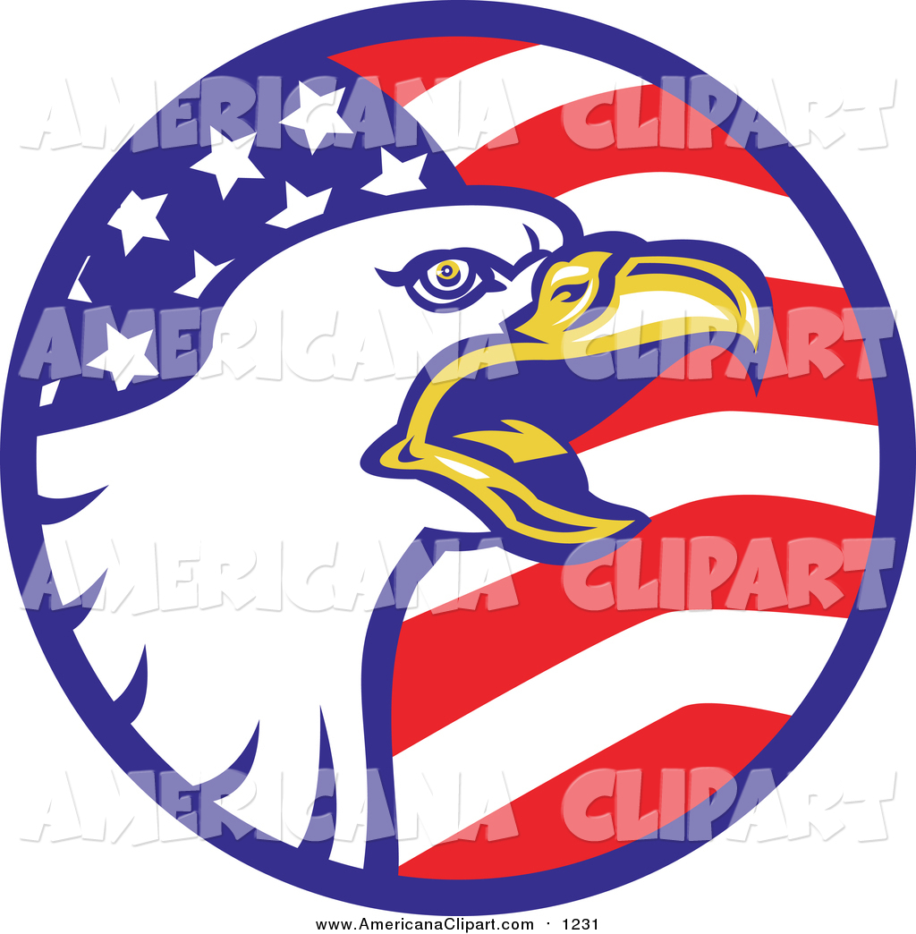 1024x1044 Americana Vector Clip Art Of A Bald Eagle And American Flag Circle