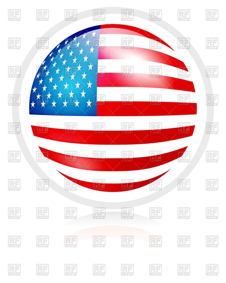 960x1200 Button With Usa Flag Royalty Free Vector Clip Art Image