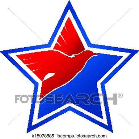 450x449 Clipart Of American Flag Eagle Logo K18078885