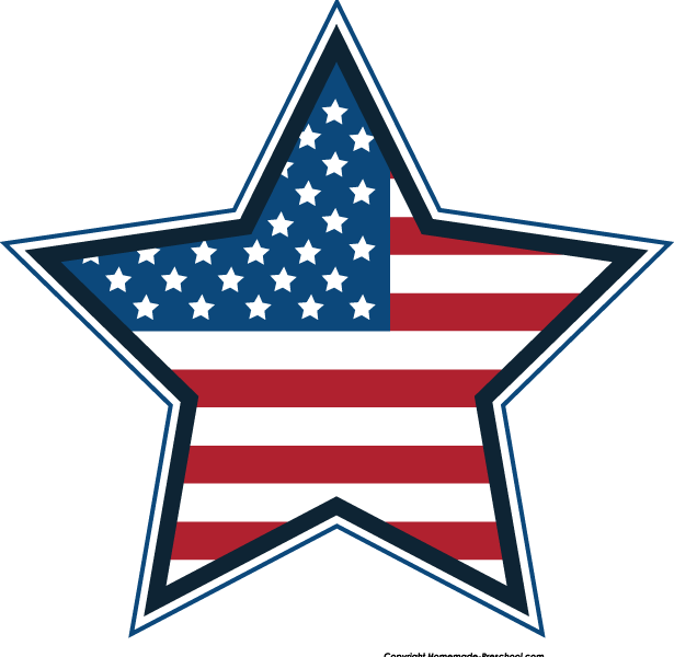 615x600 Sweet Looking American Flag Clip Art Free Flags Clipart
