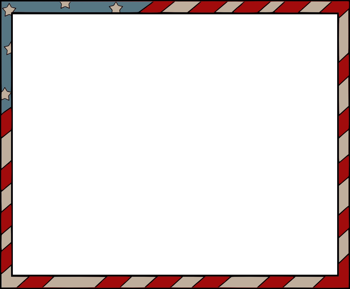 1200x990 American Flag Borders And Frames Clipart
