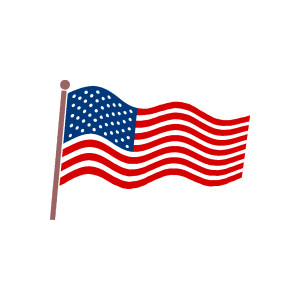 300x300 American Flag Clipart Free Usa