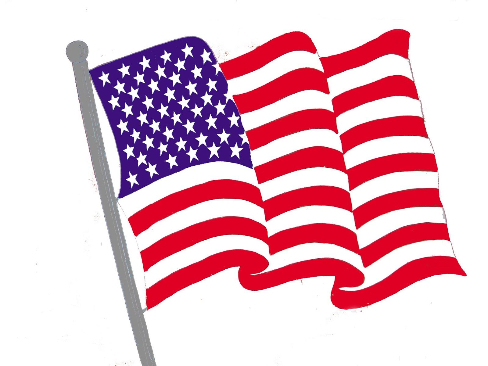 1600x1200 American Flag Free American Patriotic Clipart