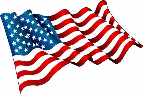 600x402 American Flag Free Vector Download 2871 For