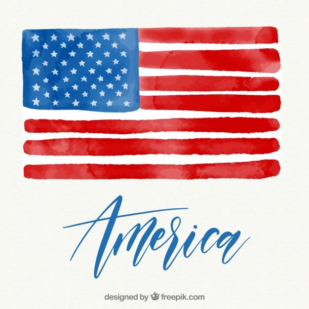 626x626 Brush Stroke American Flag Vector Free Download