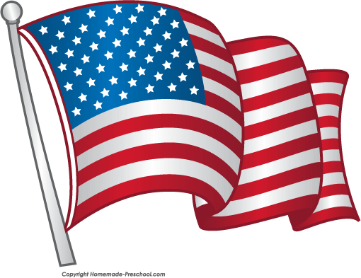 510x393 Free American Flags Clipart