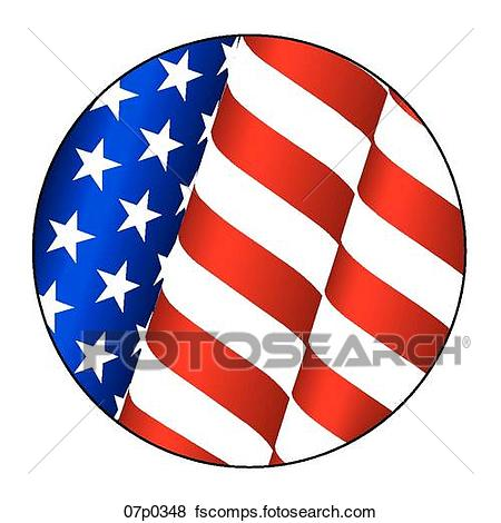 450x470 Clipart Of Us Furling Flag 07p0352