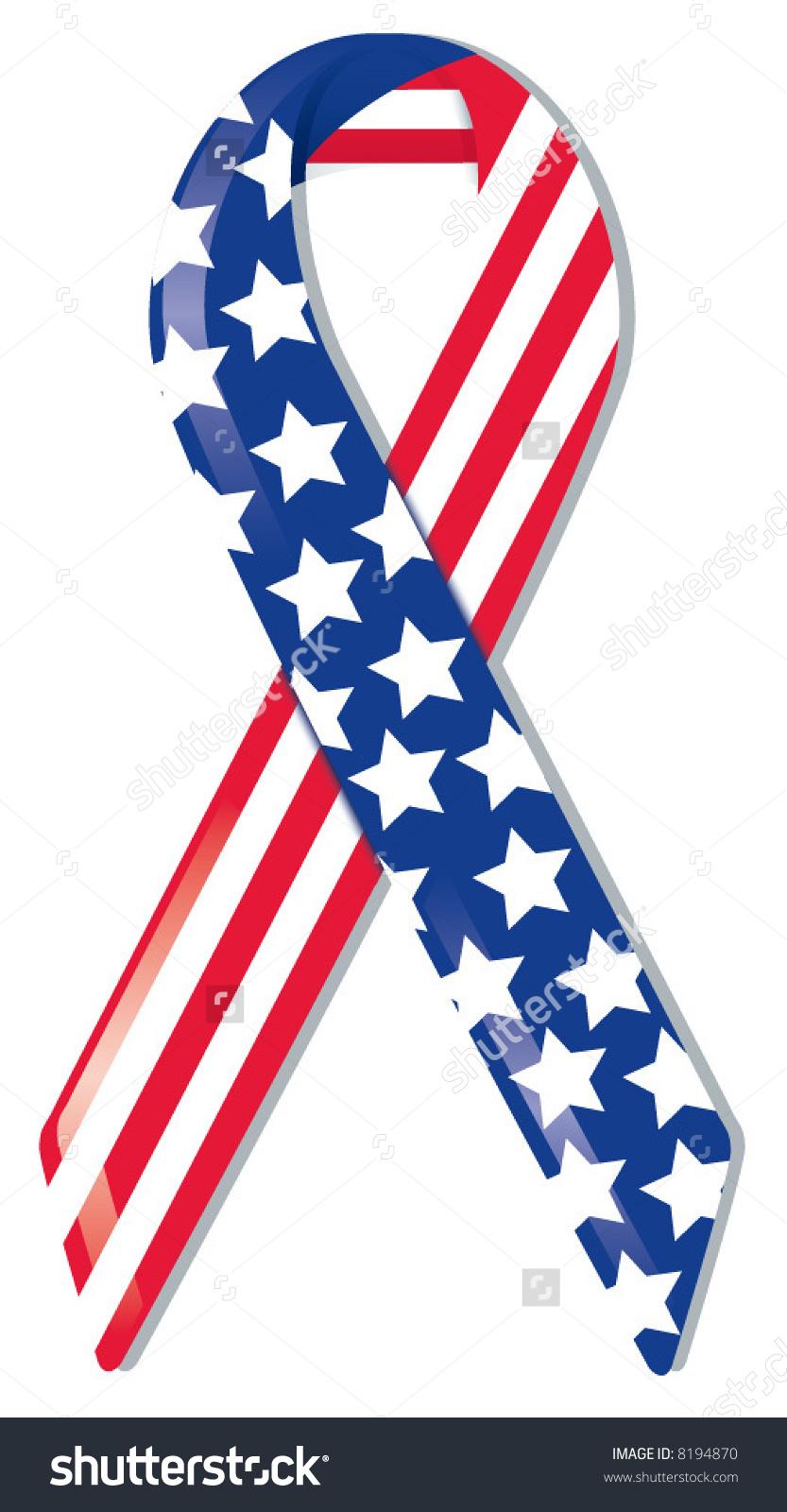 833x1600 Ribbon Clipart American