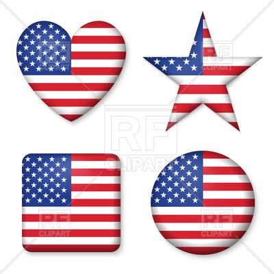 400x400 Set Of Figures With Usa Flag